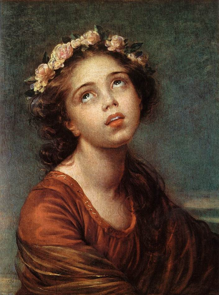 VIGEE LEBRUN Elisabeth The daughters Portrait